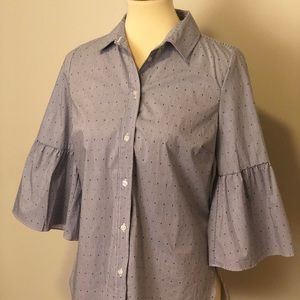 Counterparts Tops - NWT- Counterparts bell sleeve button down